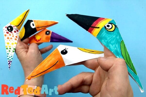 Finger Puppets made from paper