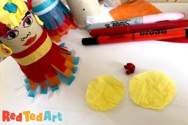 How to make tissue paper flowers for Frida Kahlo