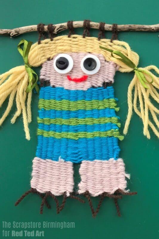 Weaving Dolls Craft for Kids