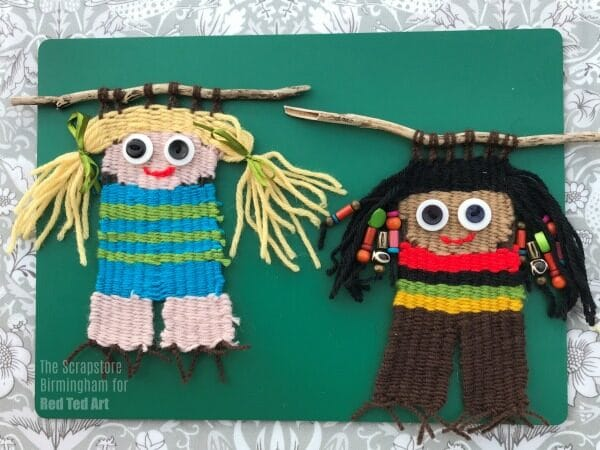 Weaving Dolls Craft for Kids