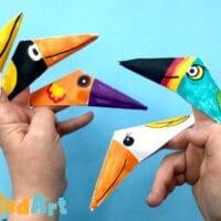 Bird finger puppets easy