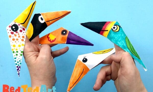 Bird finger puppets easy