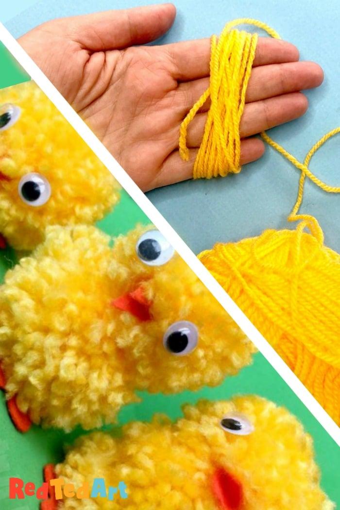 Finger Pom Pom Chicks