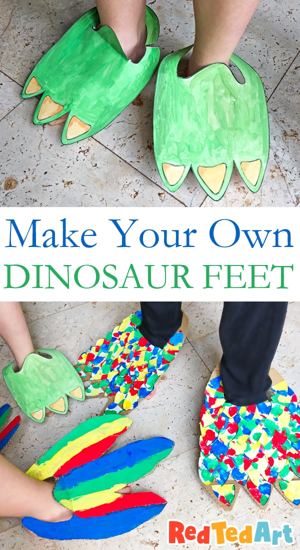 How to make Dinosaur Feet
