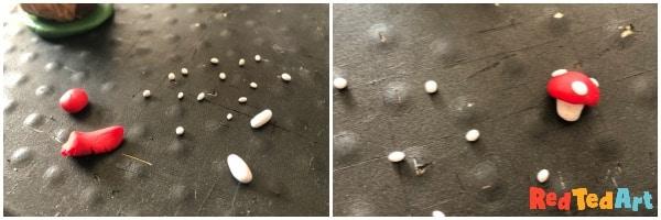 Make clay mushrooms