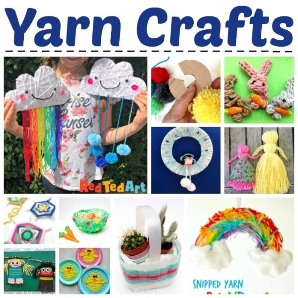 Easy crafts for kids with yarn and wool