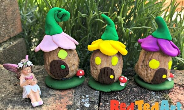 Mini Walnut Fairy Houses