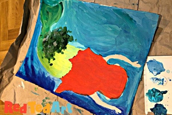 Sea Glass Mermaid Art for Kids