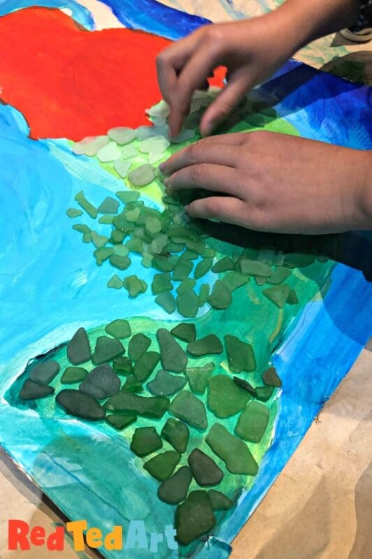 Sea Glass Mermaid Art for Kids