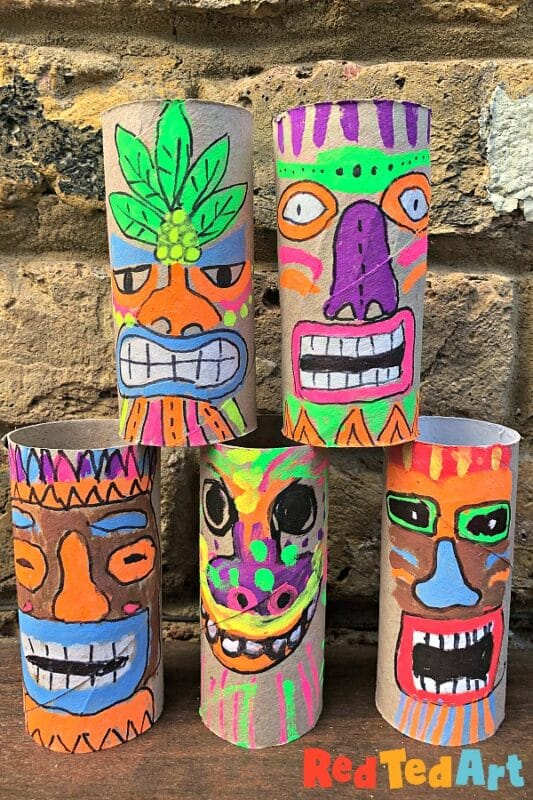 TP Roll Tiki Mask Craft
