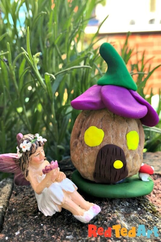Mini Walnut Fairy House