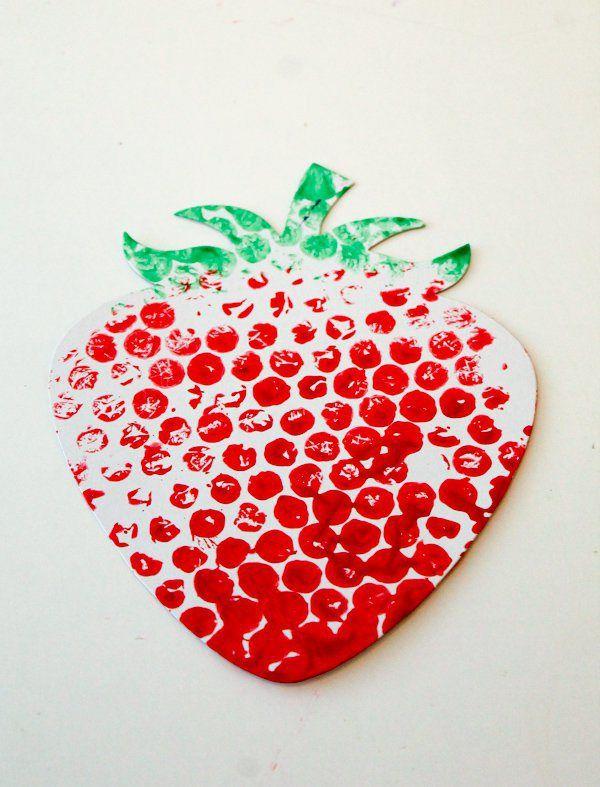 Bubble printing strawberry