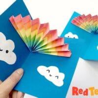 Pop Up Rainbow cards