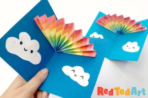 Pop Up Rainbow cards