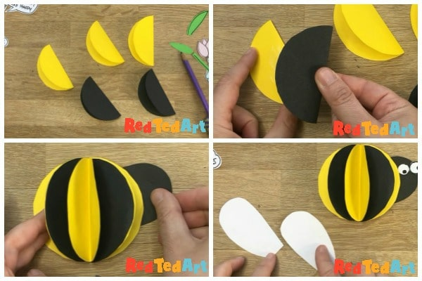 making a 3d paper bee