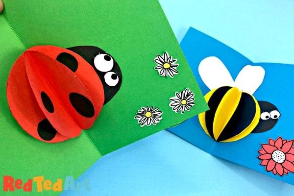 3d Paper Ladybug card