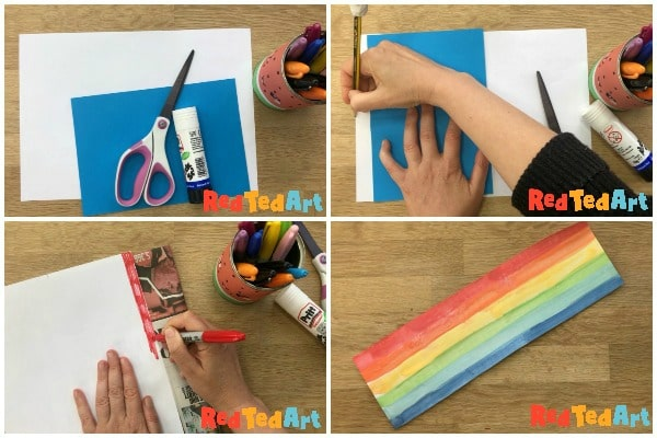 Marking the width of your paper rainbow