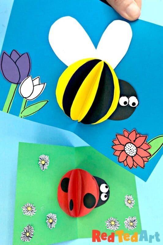 3d Paper Bee Card