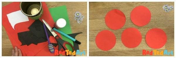 3d paper ladybird