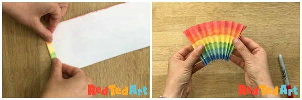 easy paper rainbow concertina