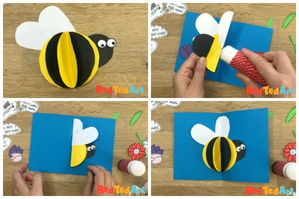 assembling your bee card