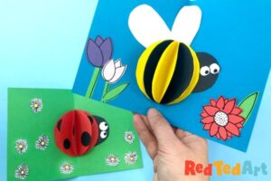 3d Paper Bee Card