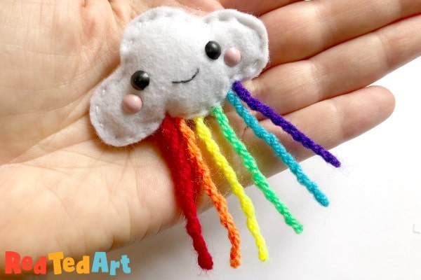 Sew a Rainbow Cloud Pin