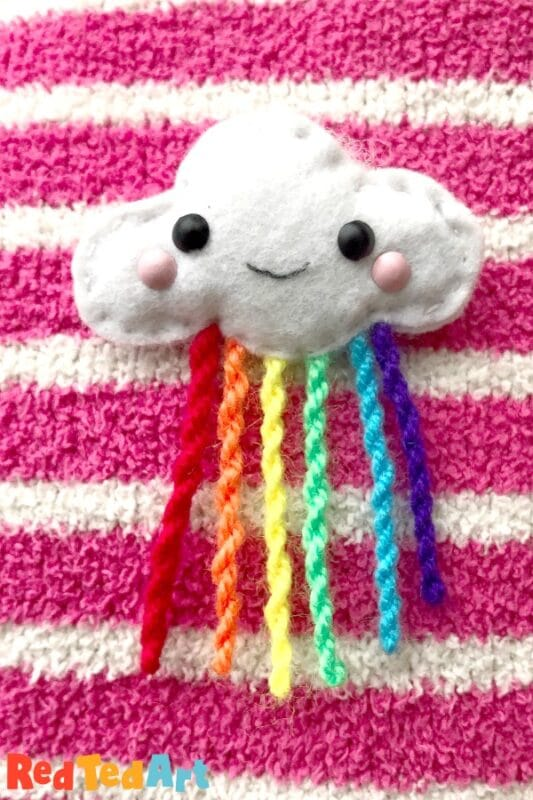 DIY Felt Cloud Brooch - Sewing with Kids - Red Ted Art