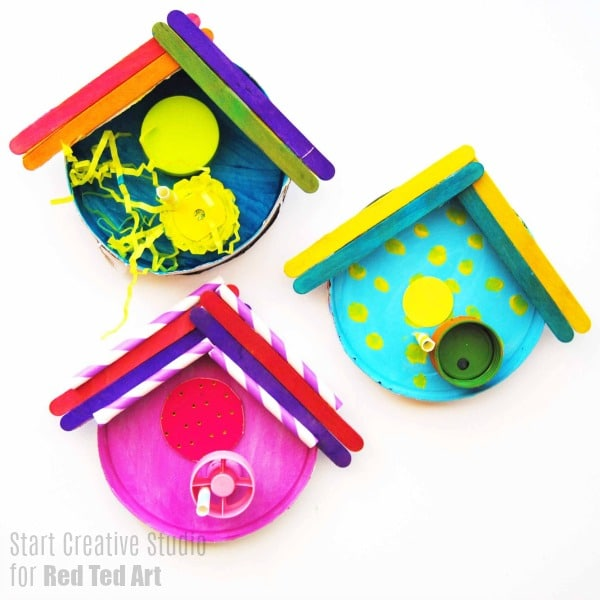 colourful bird house craft