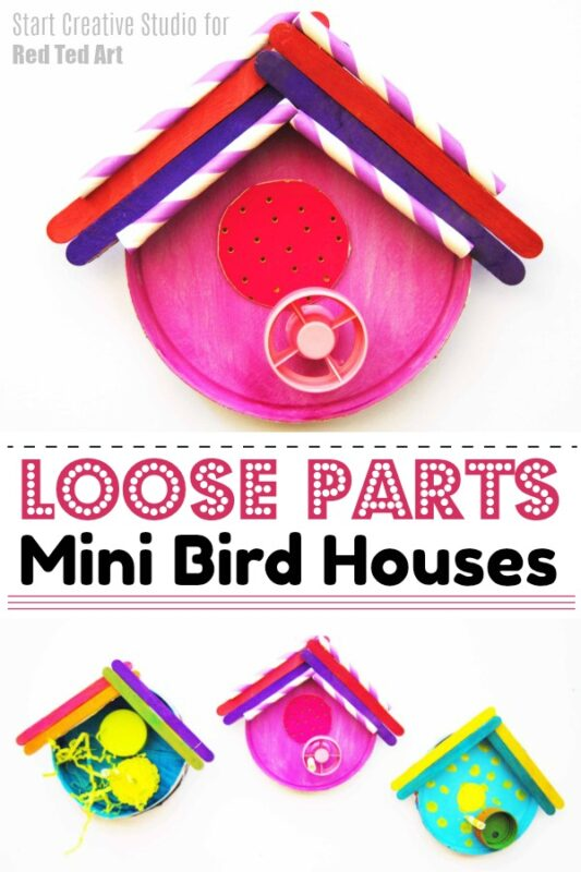 Loose Parts Bird House Decor