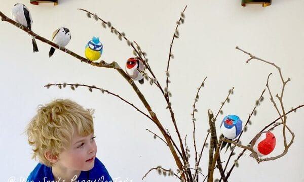 Adorable Papier Mache Birds