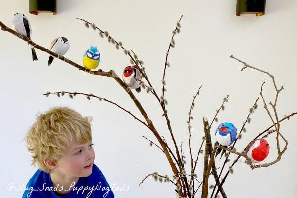 Adorable Papier Mache Birds
