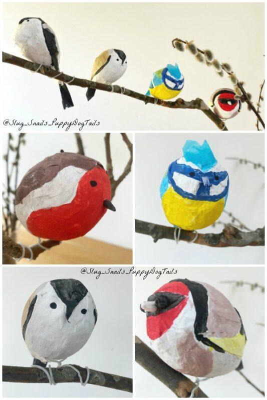 Papier Mache Bird Ornaments
