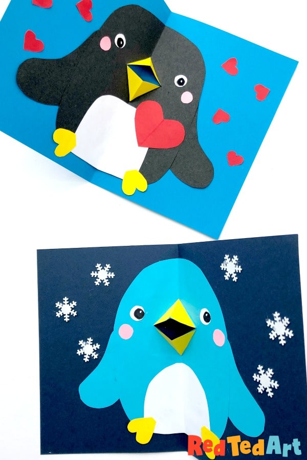 3d Penguin Cards