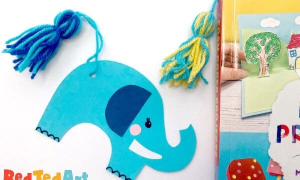 Tassel Tail Elephant Bookmarks in the book