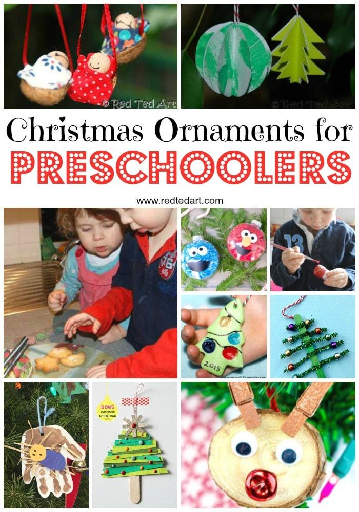 Handmade Christmas Ornaments for Preschoolers