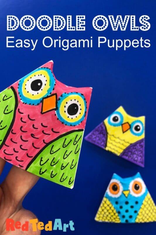 Paper Owl Finger Puppet