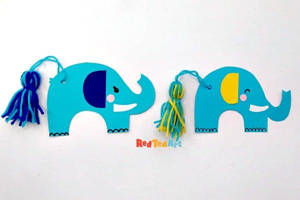 Tassel Tail Elephant Bookmarks