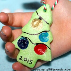 Salt Dough Finger Print Tree