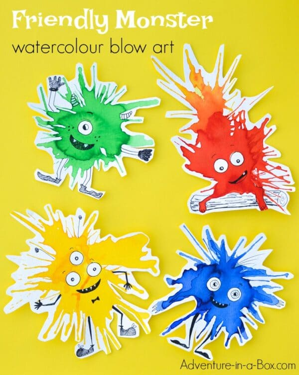 blow painting monsters