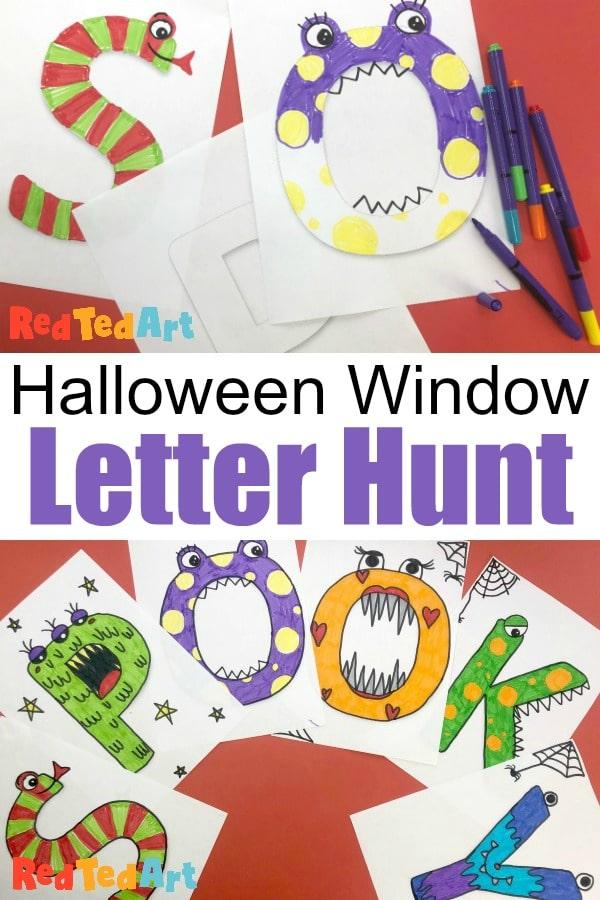 Window Letter Hunt for Halloween