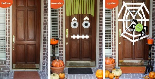 Halloween Door Decorating