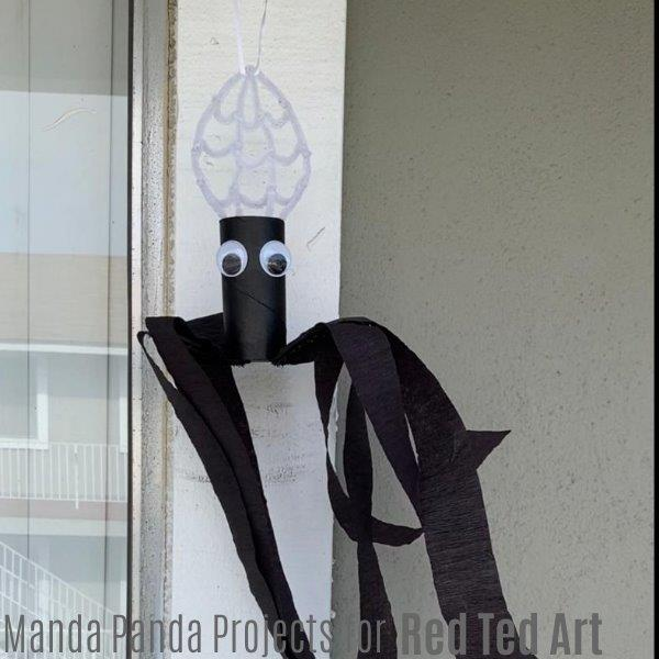 Finished tp roll windsock for halloween