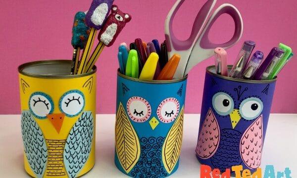DIY Tin Can Owls