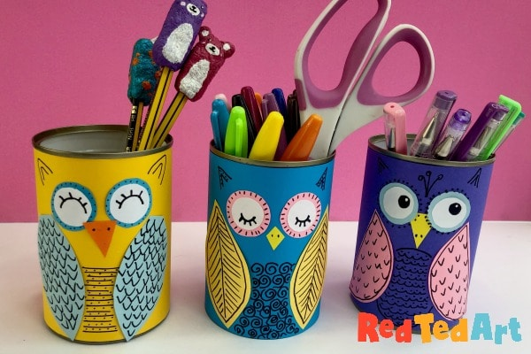 DIY Tin Can Owls