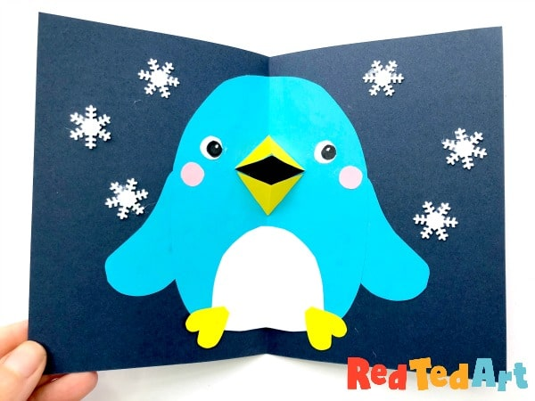 Final 3d Christmas Penguin Card