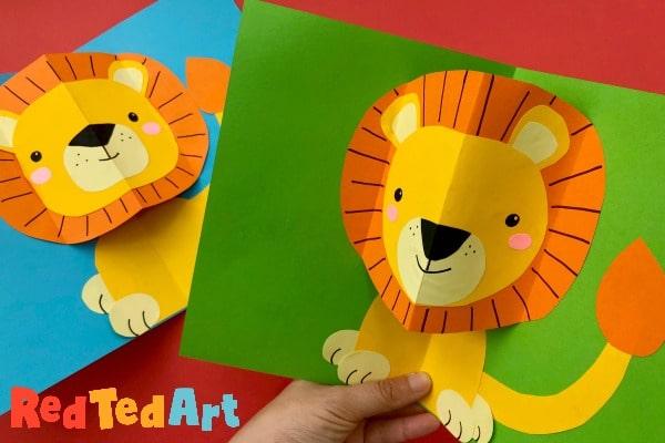 Pop Up Lion Card