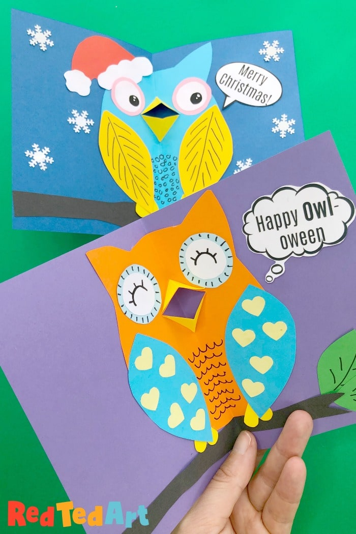 3d Owl Cards for all seasons
