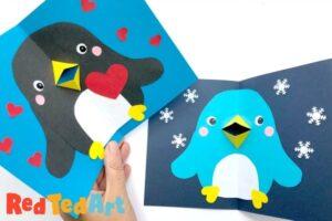 Valentines Penguin Card