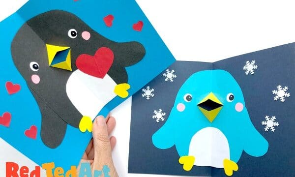 Valentines Penguin Card